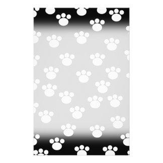 Black and White Animal Paw Print Pattern. 14 Cm X 21.5 Cm Flyer