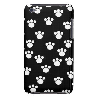 Black and White Animal Paw Print Pattern. iPod Touch Case