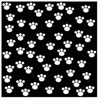 Black and White Animal Paw Print Pattern. Cut Outs