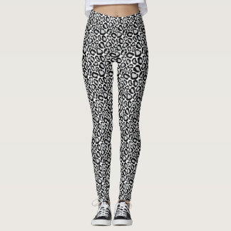 Black and White Animal Print Leggings