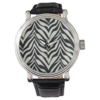 Black and white Animal print zebra stripes Watch