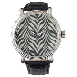 Black and white Animal print zebra stripes Wrist Watches