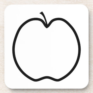 Black and White Apple. Coaster