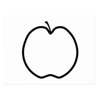 Black and White Apple. Postcard