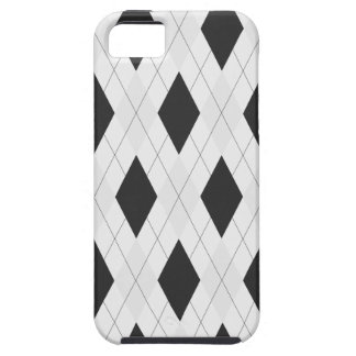 Black and White Argyle Case for iPhone 5