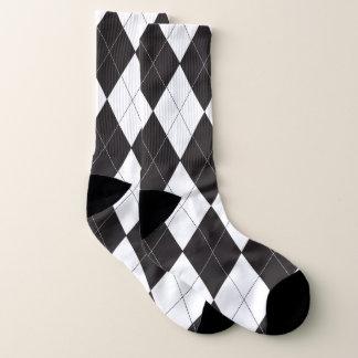 Black and White Argyle Pattern 1