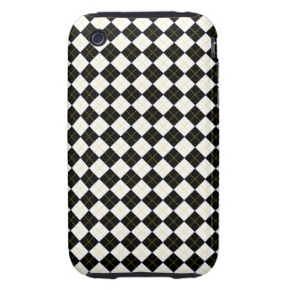 Black and white argyle pattern iPhone 3 tough cover