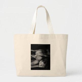 Black and White art Canvas Bag