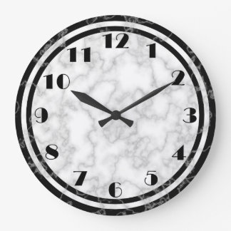 Black and White Art Deco Clock