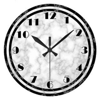 Black and White Art Deco Clock