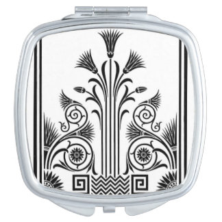 Black and White Art Deco Compact Mirror