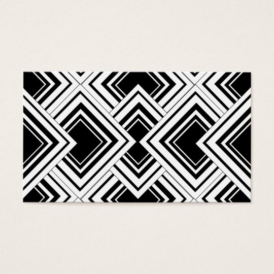 Black And White Art Deco Design Business Card