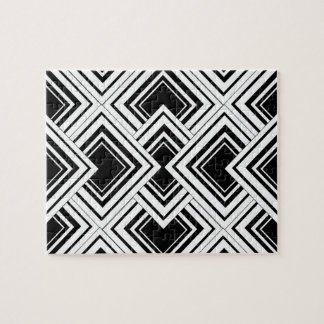 Black And White Art Deco Design Jigsaw Puzzle