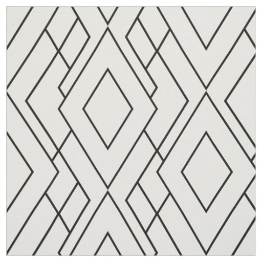 Black and white art deco diamond pattern fabric for Art deco patterns