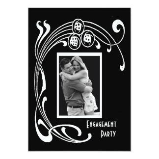 Black and White Art Deco Party Personalized Invites