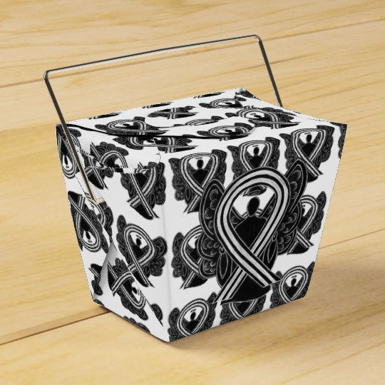 Black and White Awareness Ribbon Gift Favour Boxes