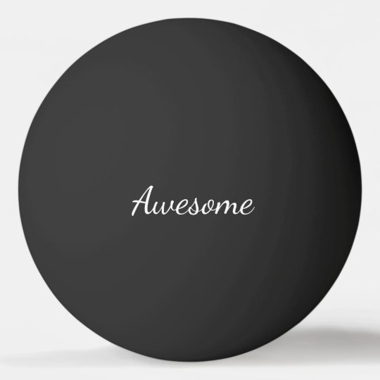 Black and White Awesome Personalised Ping Pong Ball