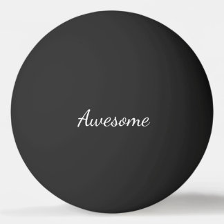 Black and White Awesome Personalized Ping Pong Ball