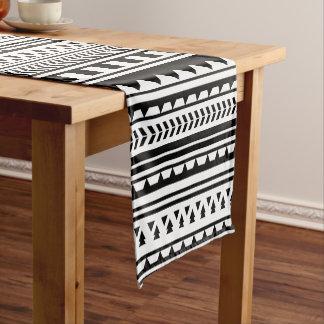 Black and White Aztec Geometric Triangle Pattern