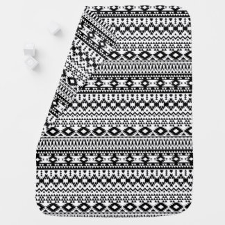 Black and White Aztec geometric vector pattern Baby Blanket