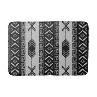Black And White Aztec Pattern Southwest Tribal Bath Mats