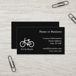 Bicycle business cards business card printing zazzle uk black and white b is for bicycle business card colourmoves