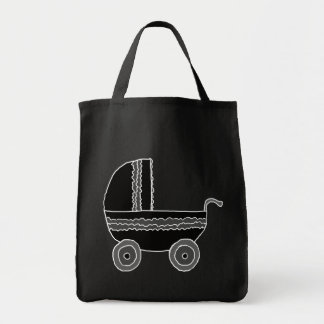 Black and White Baby Stroller.