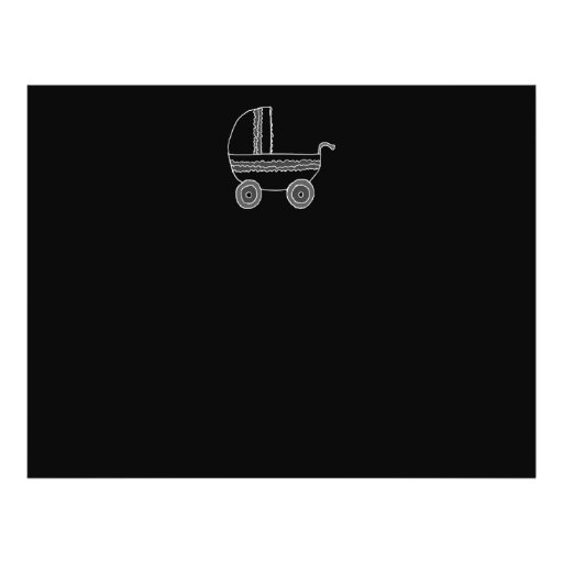 Black and White Baby Stroller. Personalized Flyer