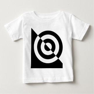 Black and white baby's visual stimulation tee