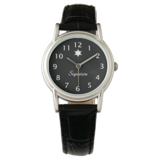 Black and White Badge Signature Watch