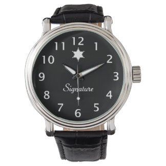 Black and White Badge Signature Wristwatches