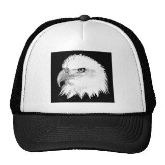 Black And White Bald Eagle Cap