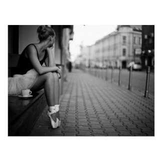 Black and White Ballerina Postcards