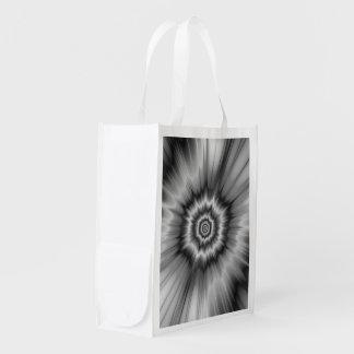 Black and White Bang! Reusable Grocery Bag