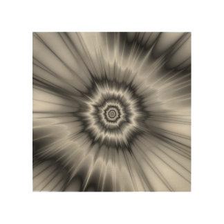 Black and White Bang! Wood Canvas
