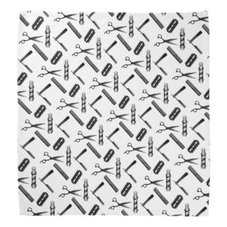 Black and White Barber's Pole Pattern Kerchiefs