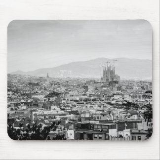 Black and White Barcelona Mouse Mat