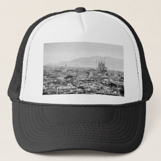 Black and White Barcelona Trucker Hat