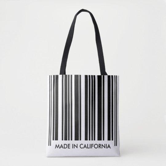 Black and White Barcode Stripes Creative Unique Tote