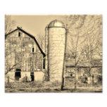 Black and White Barn 10x8 Photographic Print