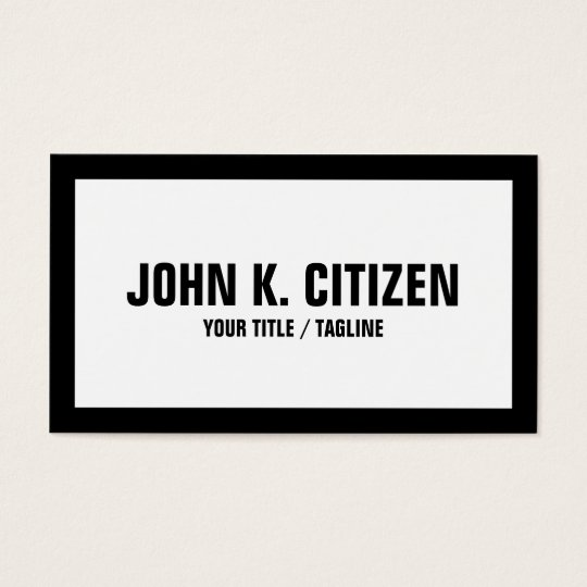 Black And White Basic Bold Business Card