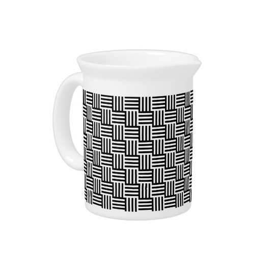 Black And White Basket Weave Pitcher