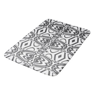 Black and white bath mat - Circle Black Bath Mats