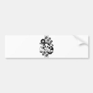 Black and white battle monochrome (Black and white Bumper Sticker