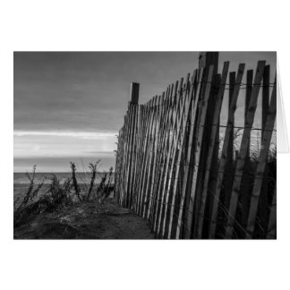 Black and White Beach Fence Card