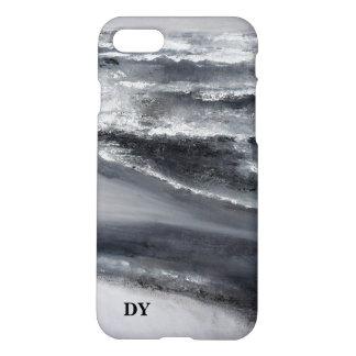 Black and White Beach Monagram Phone Case
