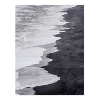 Black and white beach scenic postcard