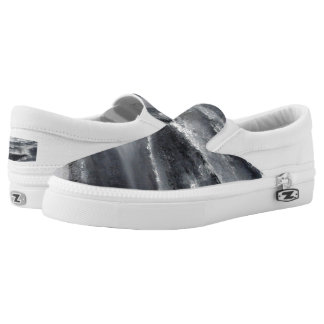 Black and White Beach Slip on Sneakers