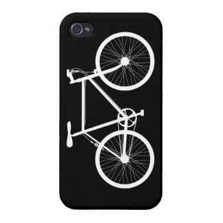 Black and White Bicycle Case For The iPhone 4