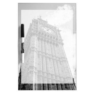 Black and White Big Ben Photograph, London Dry Erase Whiteboards